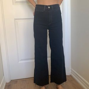 H&M High waisted black flared jeans size 0